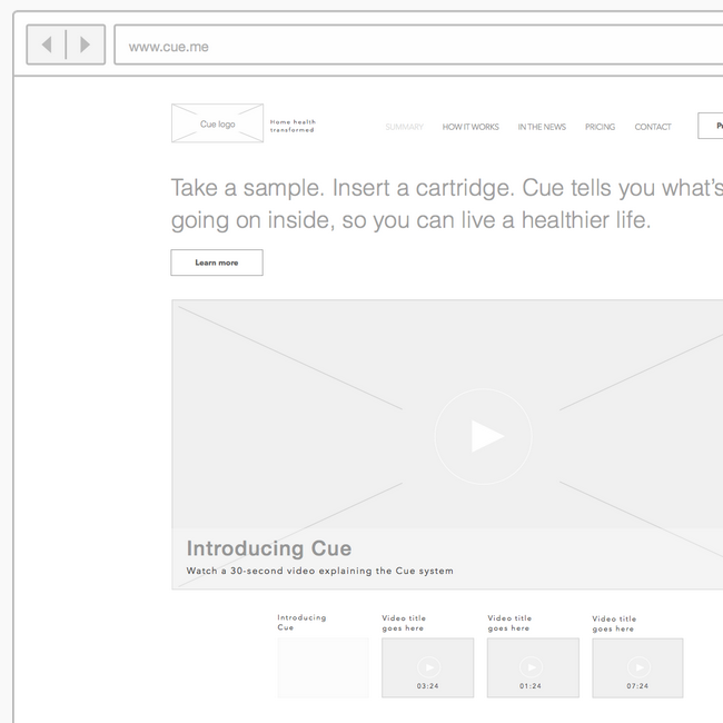 Cue.me UX research case study preview